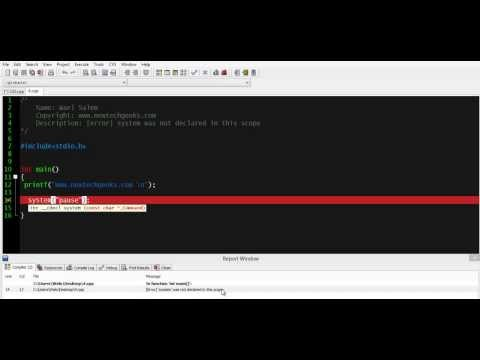 FIX [error] system was not declared in this scope  Programming in C  tutorial for beginners lesson 3