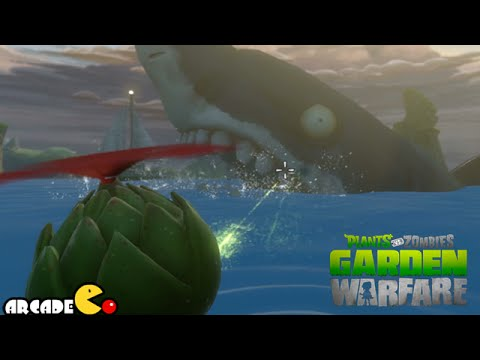 Plants vs. Zombies: Garden Warfare - The Giant Shark Zombie in Port Scallywag - PVZ Garden Warfare