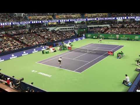 Roger Federer amazing shot at Shanghai 2017
