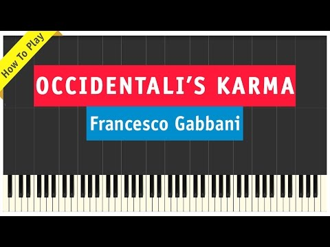 Francesco Gabbani - Occidentali's Karma - Piano Cover (How To Play Tutorial)