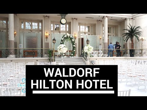 Waldorf Hotel Wedding by Designer chair covers to go