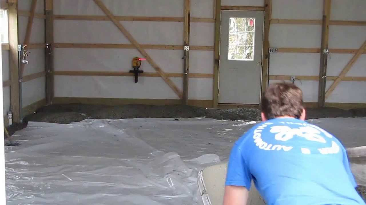Cha Pole Barns Concrete Time Part 2 By Kvusmc Youtube