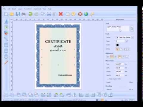 how to create and print a certificate of birth youtube