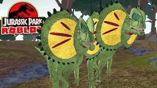 "Jurassic Park (Roblox) ft-Spartan-poisonous dinosaurs ""Dilofossauro""-(#7) (Gameplay EN-BR)"