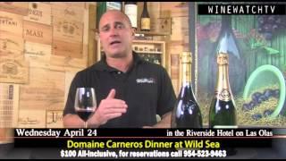 Domaine Carneros Dinner at Wild Sea in the Riverside Hotel on Las Olas