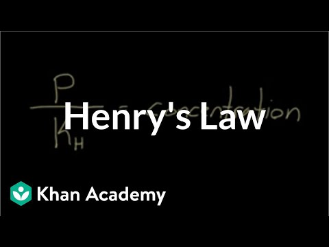 Henry's law | Respiratory system physiology | NCLEX-RN | Khan Academy