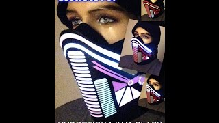 Ninja Mask Futuristic DJ Mask - Orbit Light Show Rave Mask Light Up Bandana Dust & DANCE MASK