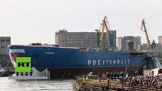 Rusia bota el rompehielos más grande y potente del mundo
