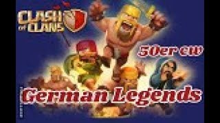 GERMAN LEGENDS ( Clankrieg Nr.14 /Teil 1)CLASH OF CLANS //CW/CWL + TROPHY PUSH / POKIJAGD /DEUTSCH
