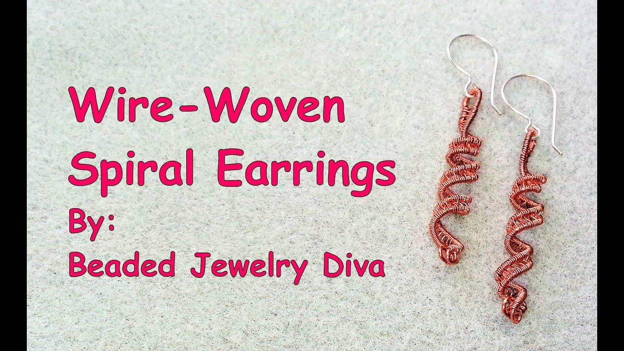 Spiral Basketweave Wire Earrings - Wire Weaving Tutorial - YouTube