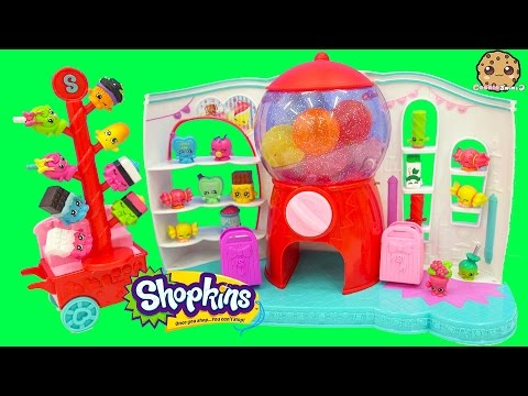 Shopkins Season 4 Sweet Spot Gumball Machine Playset with 2 Exclusives Cookieswirlc Unboxing Video