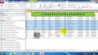 Access 2010 für's Büro Part 32 Drucken von Tabellen, Abfragen und Formularen