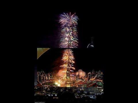 Hello 2018 from BurjKhalifa @UAE