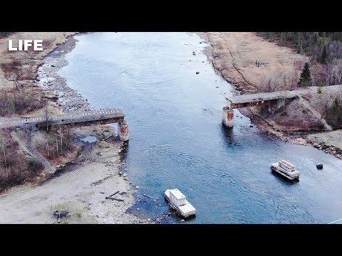Украли мост в Мурманске