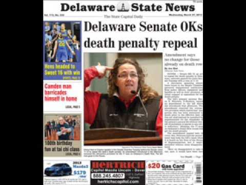 Delaware Senate debate, vote on death penalty repeal