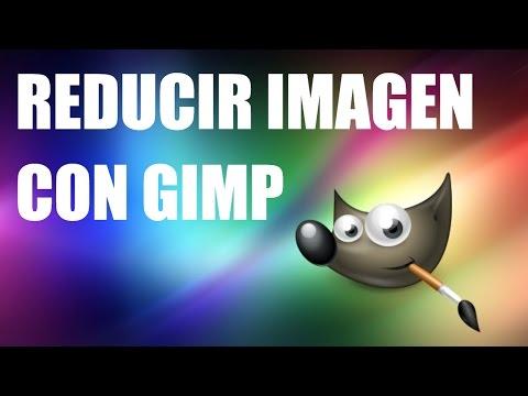 Como bajar el peso de una imagen en gimp