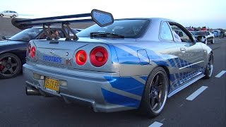 Nissan Skyline R34 GT-R - Burnout & Accelerations!