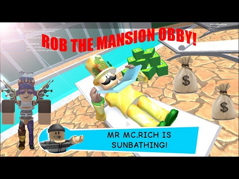 Rob The Mansion Obby Roblox Gameplay Walkthrough Youtube