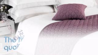 Jewel 100 Cotton Plum Quilted Bed Runner