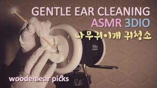 ASMR. Gentle Ear Cleaning w/Latex Gloves 사각사각 나무...