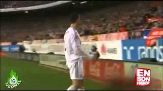 Topu vermeyen top toplayıcı çocuk Ronaldo'yu kızdırdı