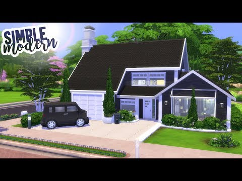 SIMPLE MODERN HOUSE | The Sims 4 Speed Build