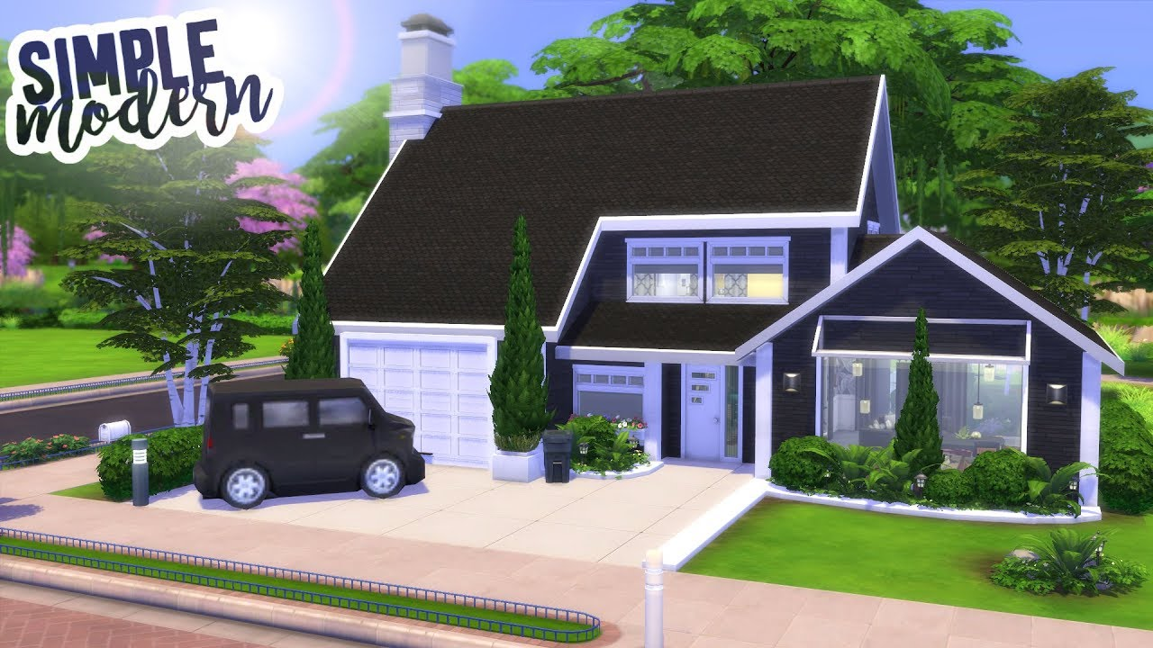SIMPLE MODERN HOUSE   The Sims 20 Speed Build