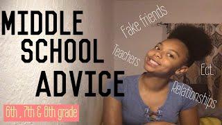 MIDDLE SCHOOL ADVICE : 6th, 7th, & 8th grade 📚 ✏️