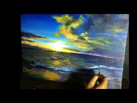 Painting Scenery| Landscape| Seascape| Acrylic Painting