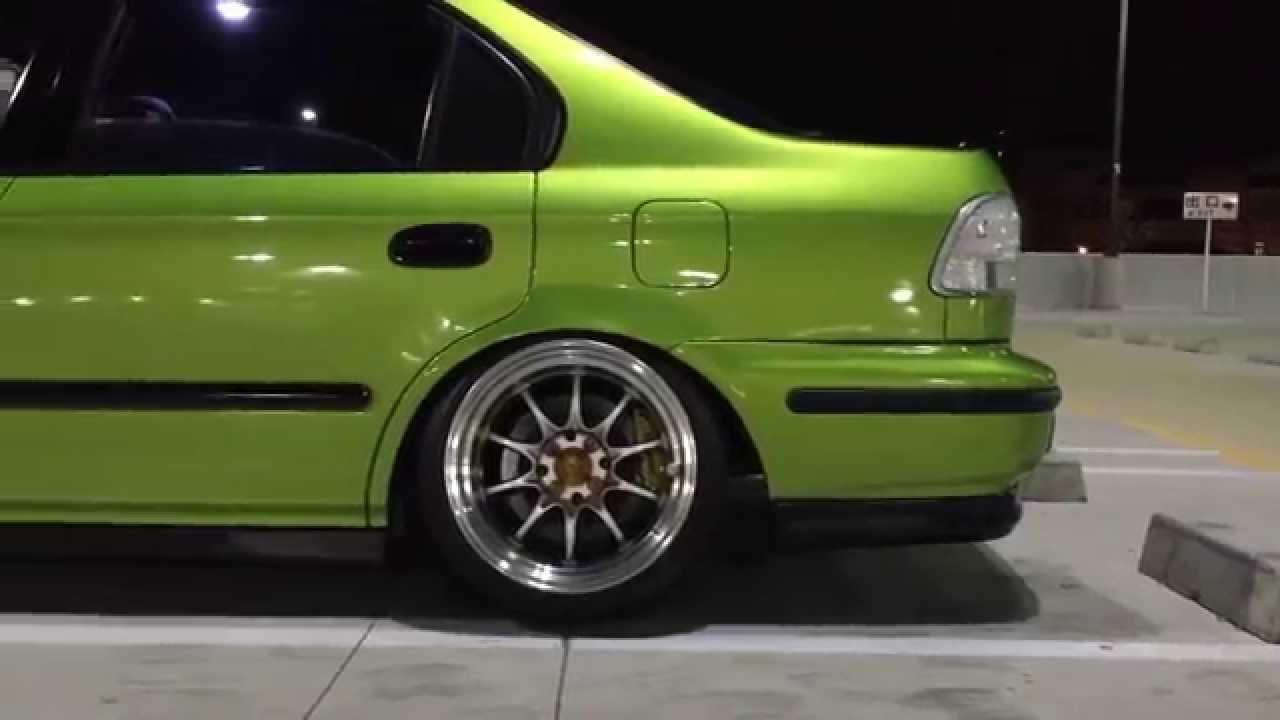 Civic Si Stanced Girl Honda