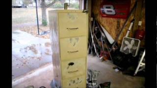 Home made Smoker 5 drawer filing cabinet