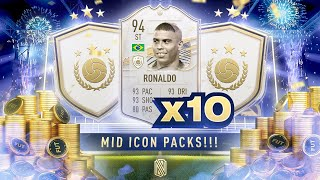 OMG 94 RATED RONALDO IN A PACK!!! 10 x MID ICON PACKS!!!! FIFA 21