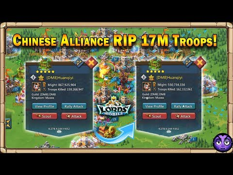 Lords Mobile | [Do8] Chinese Alliance Zeroed A Player | RIP 17 Million Troops | Episode 1