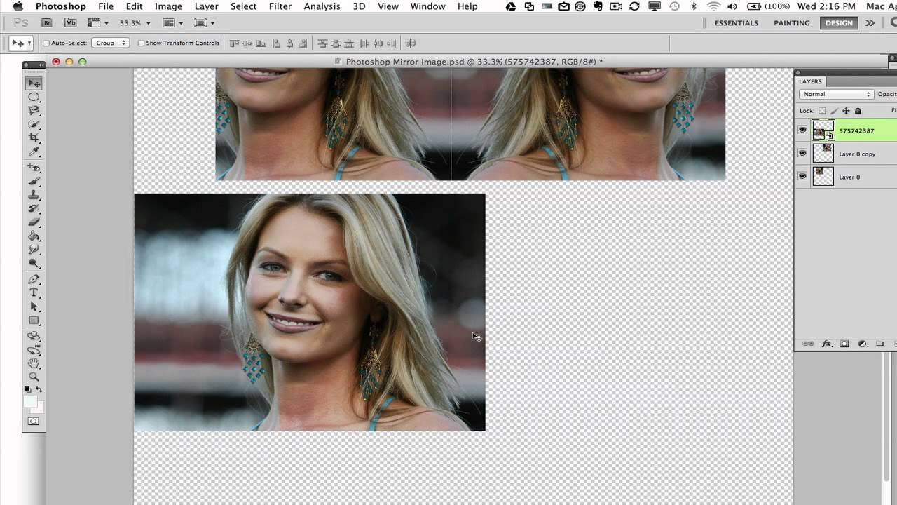501a90a6c1 Photoshop Tutorial - How To Create A Mirror Image Effect - YouTube