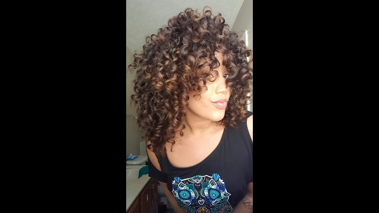 Bouncy Natural Curl Routine Youtube