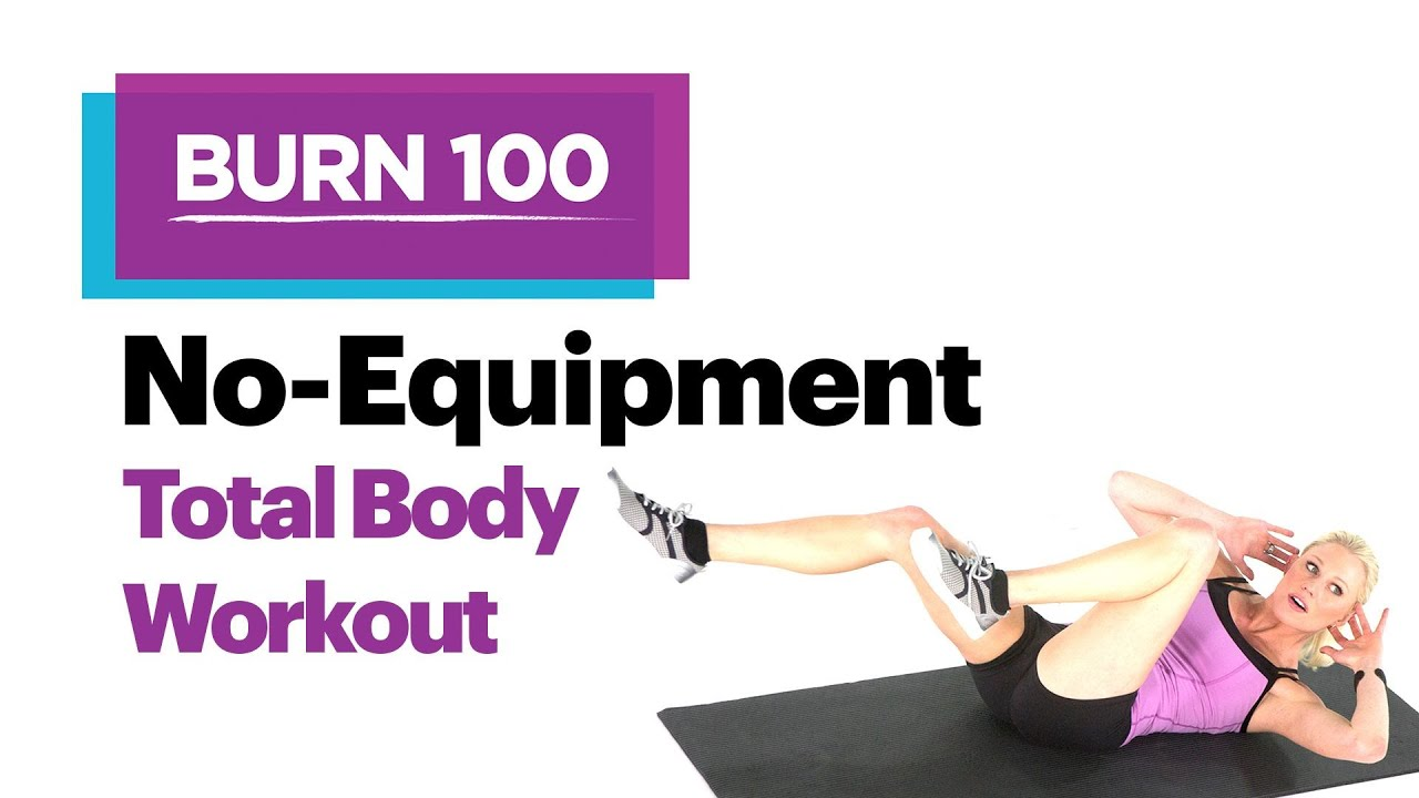 No-Equipment Total Body Workout–Quick & Easy At-Home Workout Routine–SELF's  Burn 100 Calories