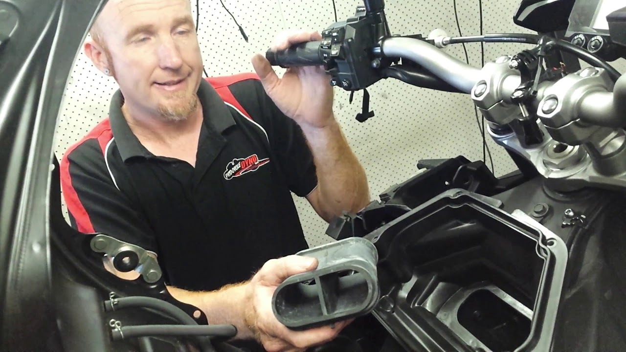 Airfilter Test On A Mt Fz 10 Yamaha Performance Filter Vs Stock Filter Youtube