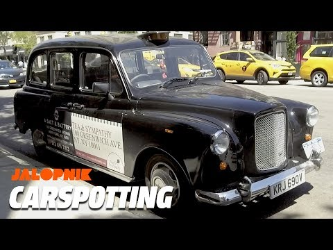 Carspotting a London Cab & Jeep XJ In Manhattan | Carspotting