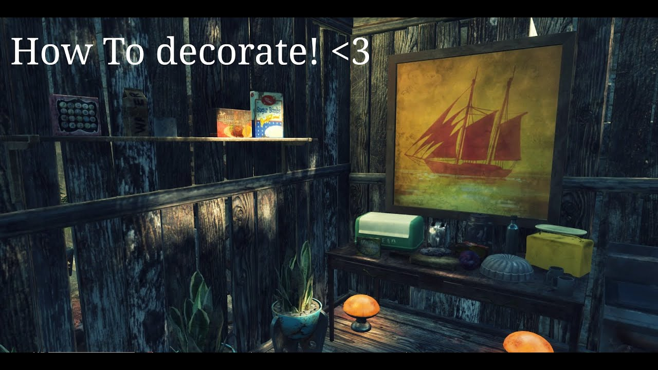 Fallout 4 decorate with junk tutorial youtube for Fallout 4 decorations