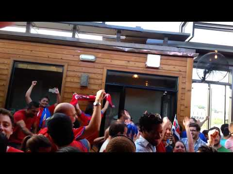 D.C. Ticos Fans Celebrate Costa Rica's World Cup Victory Against Greece