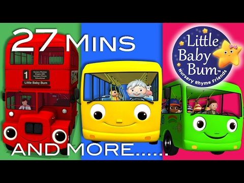Thumbnail: Wheels On The Bus | All the videos! | 27 Minutes Compilation from LittleBabyBum!
