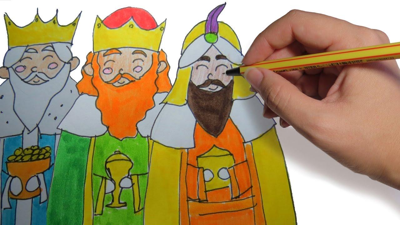 Como Dibujar A Los Reyes Magos Paso A Paso Facil Para Niños En