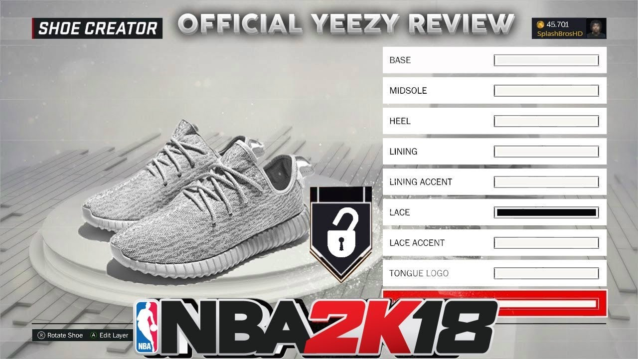 HOW TO MAKE YEEZYS IN NBA 2K18!! | NBA 2K18 SHOE TUTORIAL