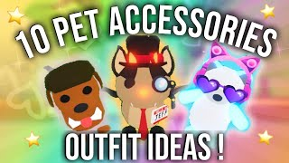 10 Pet Outfit Accessories Ideas In Adopt Me Sunsetsafari Youtube