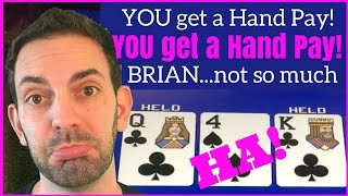 High Limit Poker - No Hand Pay for Brian ✦Theme Thursdays Live Play ✦ Slot Machine Pokies at Caesars