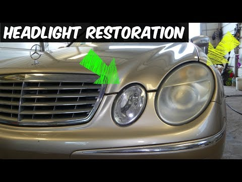 HOW TO DO HEADLIGHT RESTORATION demonstrated on MERCEDES