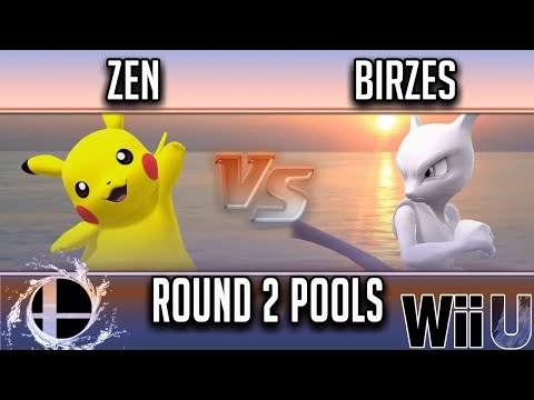 Smash'N'Splash 4  Round 2 Pools -  Zen (Pikachu) vs  Birzes (Mewtwo)
