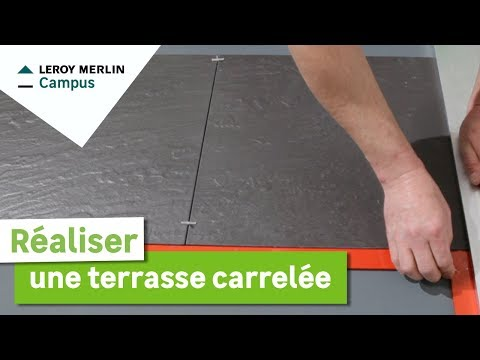 Genial Comment Réaliser Une Terrasse Carrelée ? Leroy Merlin   YouTube