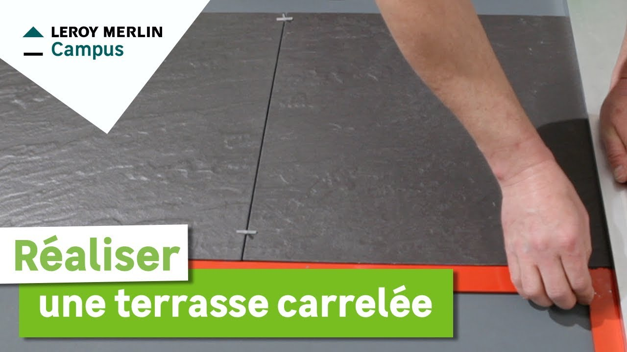 Comment r aliser une terrasse carrel e leroy merlin youtube - Terrasse en composite leroy merlin ...