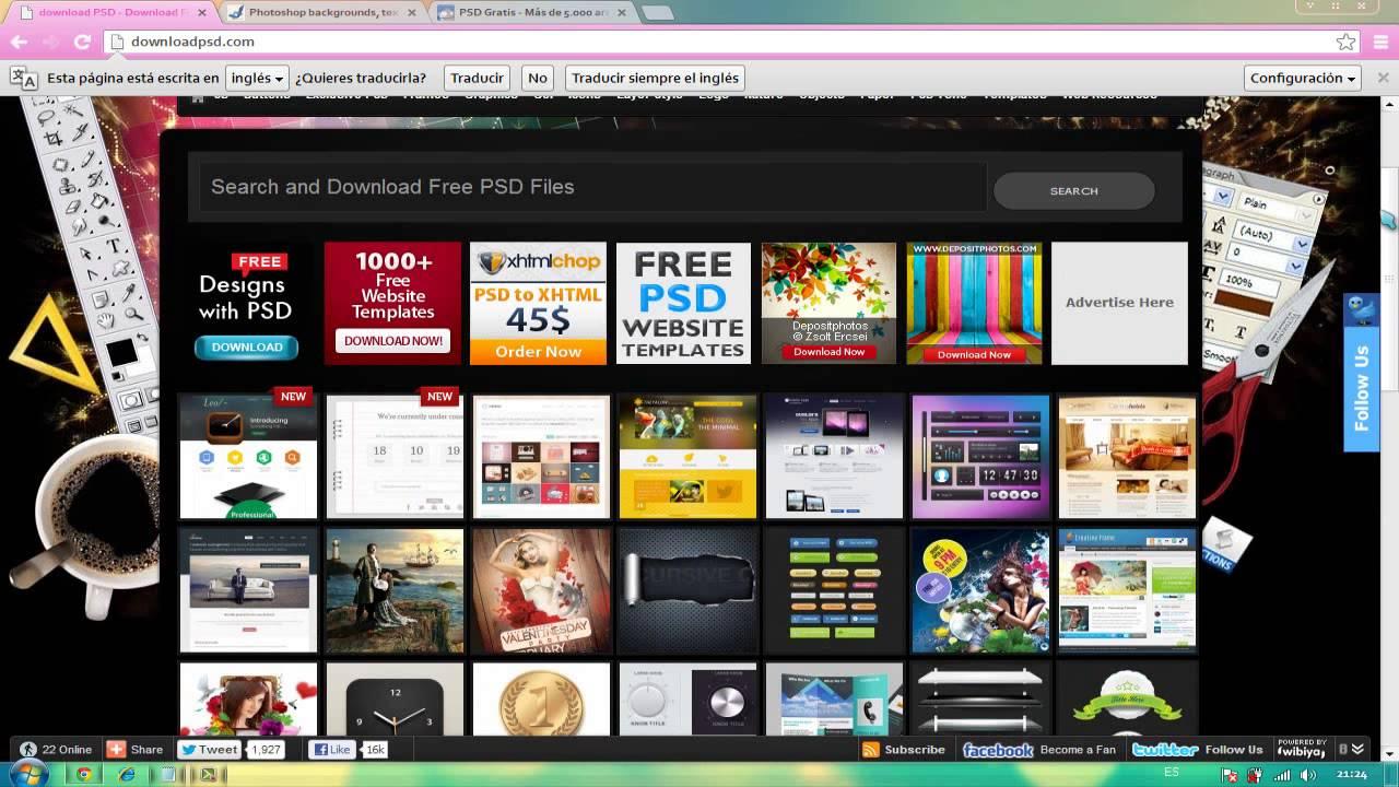 8 Paginas para descargar: PSD,PINCELES,TEXTURAS..etc - YouTube